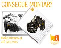 Material para divulgação de vaga de estágio na Renault