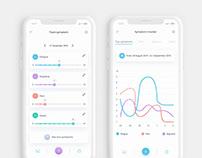 Sympto Health Mobile App UI UX