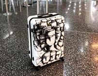 Drawing on bag