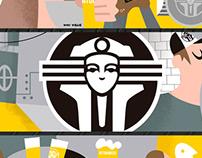 mural para cerveceria - By kiki