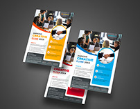 Corporate Business Flyer with 3 available color