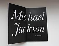 The Legend Michael Jackson -  Wikibook design
