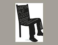 Theater Erlangen – Warten auf Godot (Poster)