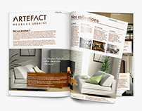 Logo design +  Layout of the Artefact product catalog