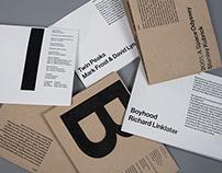 Typographic film poster