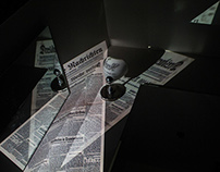 Distorted Newspaper | Projector Experiment