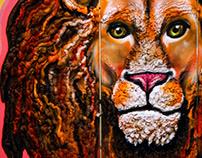 PUF Mural | Lion Head