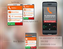 Senior Phone - Interface Design