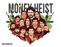 Money Heist Vector Art