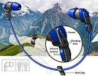 Mountain Biking Bluetooth Earbuds Concept
