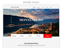 Montenegro - Travel Web Site Consept