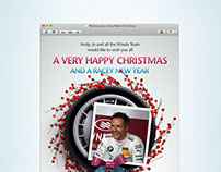 Xmas HTML email for Andy Priaulx Racing
