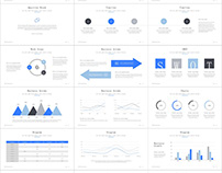 99+ Best Blue Creative business charts PowerPoint templ