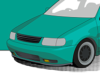 VW Polo Illustration