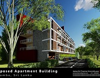 Proposed Apartment Building,  Sri Lanka - 3D Views