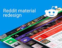 Reddit material redesign concept