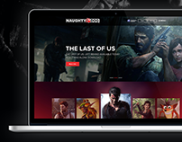 Naughty Dog Website Concept