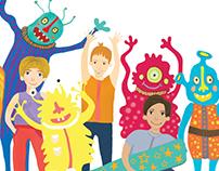 Illustration for children magazine Poznayko