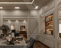 villa reception- Allegria Compound (3d visualization)