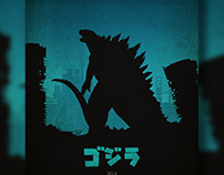 Godzilla Illustrated Poster