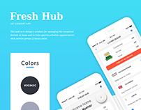 Fresh Hub IOT App concept