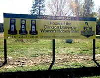 Roadside Banner for Clarkson University Women's Hockey