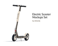 Electric Scooter Mockups Set