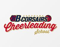Yokohama B-corsairs Cheerleading School logo
