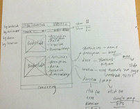 Sketch-ideation-stick notes