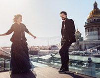 Danila Kozlovsky and Ksenija Rappoport for L'Officiel