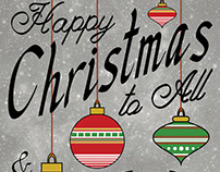 Happy Christmas to All Typography poster