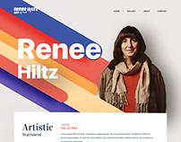 Website Design Project for Artist Portfolio