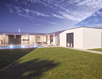 Modern house - 3D day and night visualizations