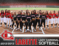 LCC Lady Cardinal Softball Poster & Group Photo