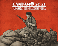 SCW historical reenactment convention poster design