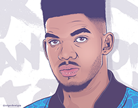 Karl-Anthony Towns Portrait