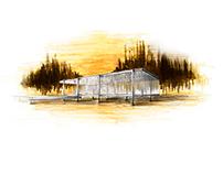 Farnsworth House - Sketch