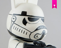 Stormtrooper Bunee. Custom Qee SWAB TOY'Z FOR FLS
