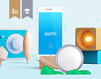 Aumi || App UI, Web Design & Packaging