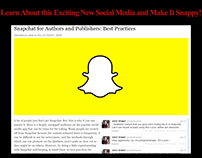 Snapchat for Authors and Publishers: Best Practices