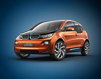 BMW i3 studio shoot