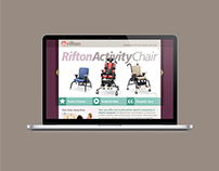 Rifton Activity Chair Product Launch Landing Page '10