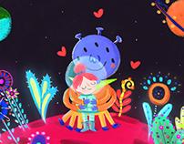Girl & Alien ·Ilustration·