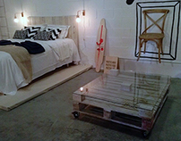 mobiliario con madera reciclada