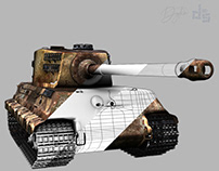 Tiger Tank 3D Model Layers