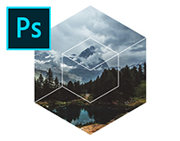 Hexagonal Image Masks Photoshop Template