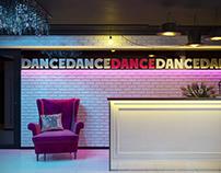 Interior of dance studio