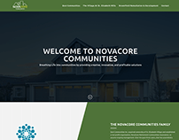 Novacore Communities - One Page Website