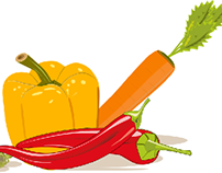 Some vegetables in vector
