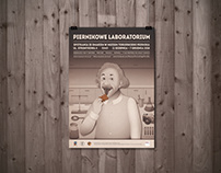 """Gingerbread Laboratory"" poster"